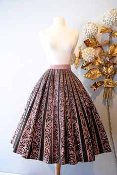 vintage skirt / 1950s mexican sequined skirt