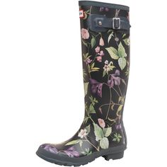 Hunter Womens RHS Tall Wellington Boots Black Mix