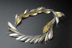 Necklace of folded leaves and tendrils | Jane Adam Jewellery Ltd