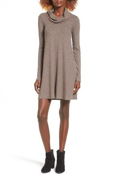 Socialite Socialite Maddie Rib Knit Cowl Shift Dress available at #Nordstrom