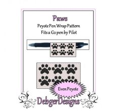 Bead Pattern Peyote(Pen Wrap/Cover)-Paws