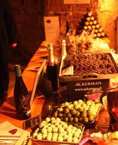 Mariage délicieux du vin et du chocolat.