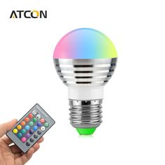 new arrival 1Pcs Lovely 16 Colors RGB Christmas Decor LED Night light E27 5W 110V - 220V LED lamp Spotlight Bulb   IR Remote