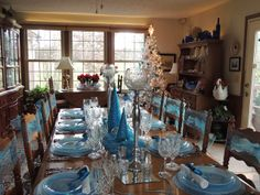 Dianne's Creative Table: I'll Have a Blue Christmas