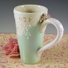 Tall Elegance Mug by RomancingTheTeapot on Etsy