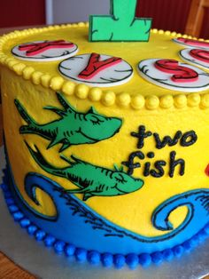 One Fish, Two Fish Smash Cake
