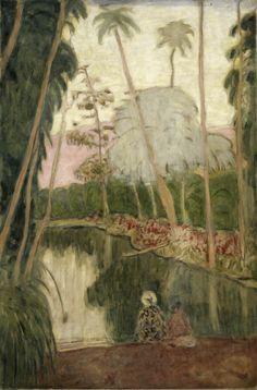 James Wilson Morrice (Montréal 1865 – Tunis 1924) L'étang aux Antilles,  Vers 1920-1922