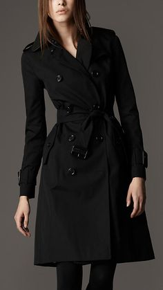 The most reliable thing in my closet - my black trench