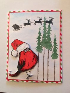 Waiting for the real Santa! by Carolinakathy - Cards and Paper Crafts at Splitcoaststampers