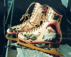 Victorian skate painted by Judy Bailey