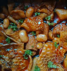 Tripe With Butter Beans Curry is a local specialty in South Africa. Many cultures within South Africa enjoy tripe for it's nutritional values