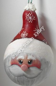 Santa Ornament Gourd ePattern #172003