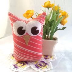 A personal favorite from my Etsy shop https://www.etsy.com/listing/222812919/merry-the-upcycled-stuffed-owl-toy-plush
