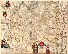 Brabantiae Breda-Antwerpen 1645 Blaeu