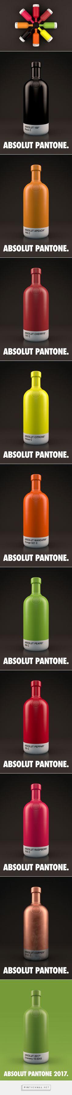 Absolut Pantone packaging design concept by Txaber - http://www.packagingoftheworld.com/2017/01/absolut-pantone.html