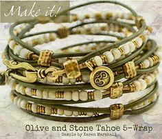Olive and stone tohoe 5-wrap beadshop.com | Home