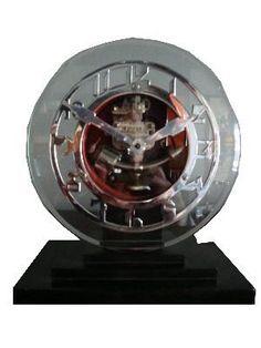 ATO Art Deco Battery Operated Clock Leon Hatot   Modernism