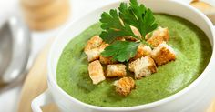 Watercress, Rocket & Spinach Soup with low fat cream cheese. Yummy and healthy.