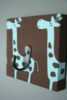 This is a coat hook but they also had ones with key rings (or could be jewelry) Just a wrapped canvas with fabric LOVE IT!