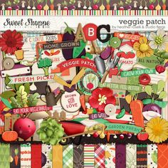 1000 images about farm gardening scrapbooking kits on for Veggie patch design