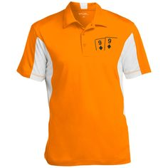 Colorblock Performance Polo (black 9d 9d on front)
