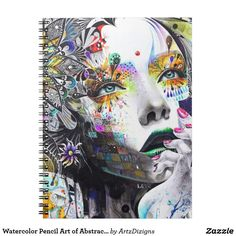 Watercolor Pencil Art of Abstract Women Notebook  http://www.zazzle.com/artzdizigns?rf=238365382999242687* #NoteBook #abstractpainting #backtoschool #schoolsupplies #zazzle