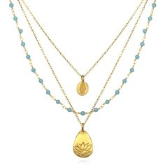 Turquoise Multi-Strand Necklace   Satya Jewelry