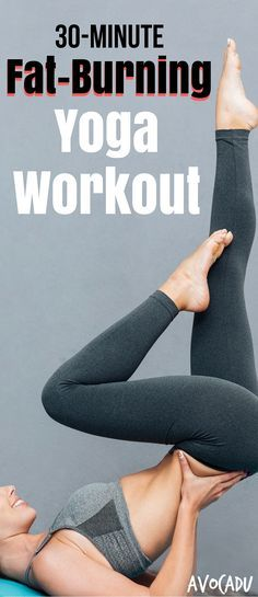 Lose weight with this fat burning yoga workout, and also get more flexible, strengthen your muscles, and help relieve tension and pains! http://avocadu.com/fat-burning-yoga-workout-for-beginners/