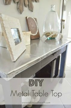 DIY Metal Table Top - Table and Hearth featured on Kenarry: Ideas for the Home