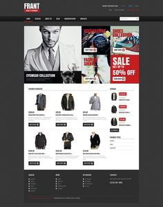30+ Mens Fashion & Accessories Website Themes (Menswear Shopify Themes) - Apparel (ecommerce Shopify theme) Item Picture