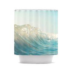 "Bree Madden ""The Wave"" Shower Curtain from Kess InHouse. Saved to Bree Madden Photography. Coastal Bathrooms, Seaside Bathroom, Aqua Bathroom, Bathroom Ideas, Bath Girls, Crashing Waves, Beach Cottage Decor, Bath Remodel, Dot And Bo"