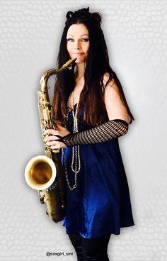 Saxophone player, Saxgirl_Sini, sax tress, Music, Blue..