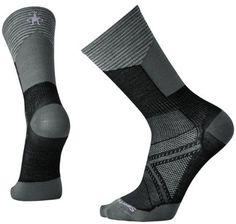 Smartwool Men's PhD Cycle UL Pattern Crew Socks Black XL