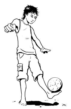 Juggling The Ball Soccer Coloring Pages