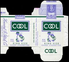 Stark - Cool King Size Candy Cigarettes candy box - 1970's by JasonLiebig, via Flickr