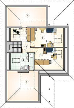 Rzut AT DĘBOWIEC CE Floor Plans, Floor Plan Drawing, House Floor Plans