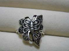Unique Silver Butterfly Ring