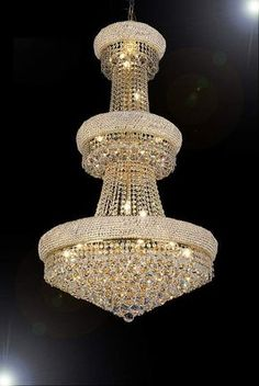 Shop for Empire Swarovski Crystal Trimmed Chandelier Lighting x Perfect for A Foyer Or Entryway. Get free delivery On EVERYTHING* Overstock - Your Online Ceiling Lighting Store! Chandelier Bougie, Crystal Chandelier Lighting, Empire Chandelier, Luxury Chandelier, Luxury Lighting, Chandelier Lamp, Lighting Design, Elegant Chandeliers, Iron Chandeliers