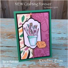 Today I'm super excited to share this card with you. I have been inking up my new stamps and this one is just devine to ink up. 'Crafti...