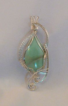Stunning Varicite pendant wrapped n by CHERYLMARIESDESIGNS on Etsy, $89.00
