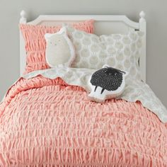 I love those sheep throw pillows! from Land of Nod.