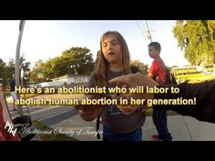 Girl expresses righteous anger over murder of babies in the womb - YouTube