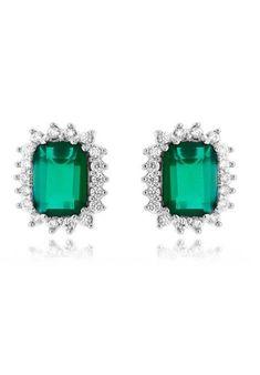 416fb41356 Brinco-delicado-de-pedra-esmeralda-quadrada-semi-joias-