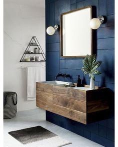 "2,042 Likes, 8 Comments - Interior Design & Architecture (@homeadore) on Instagram: ""Inspiring Masculine Bathroom 😍😍😍 via cb2"""