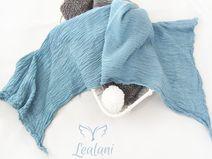 Baby Wrap Bio Gaze-Baumwolltuch transparent Bleu