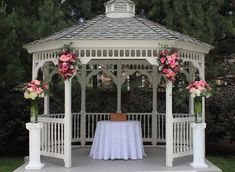 When you make the gazebo decorating then you should show your artistic sense in architecture. Make wooden gazebo with chimney style on the top of the roof and… Pergola Diy, Backyard Gazebo, Garden Gazebo, Metal Pergola, Pergola Shade, Corner Pergola, Pergola Swing, Outdoor Wedding Isle, Garden Wedding