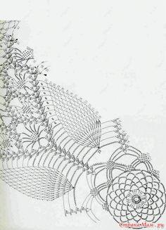 "Photo from album ""Związane serwetki"" on Yandex. Irish Crochet Patterns, Crochet Doily Diagram, Crochet Mandala, Crochet Chart, Thread Crochet, Crochet Doilies, Crochet Lace, Free Crochet, Chrochet"