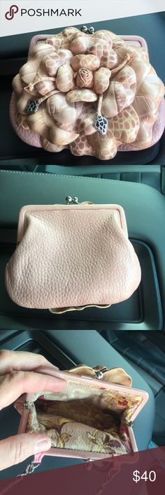 Brighton Rosalie change purse cross body This is in excellent condition it's a very light pink color retired Brighton Bags Mini Bags