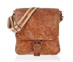 6f9b12f420c JOOF Vintage look kleine leren schoudertas bruin Lederen Portemonnees,  Portemonnees En Tassen