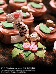Monkey Cupcakes | by helenc0802